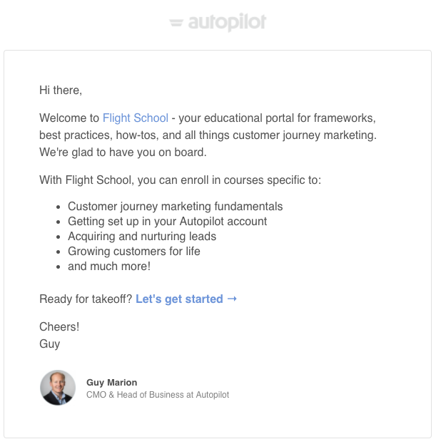 for a simpler yet still effective version of a welcome email check out this next email marketing example - Email Examples