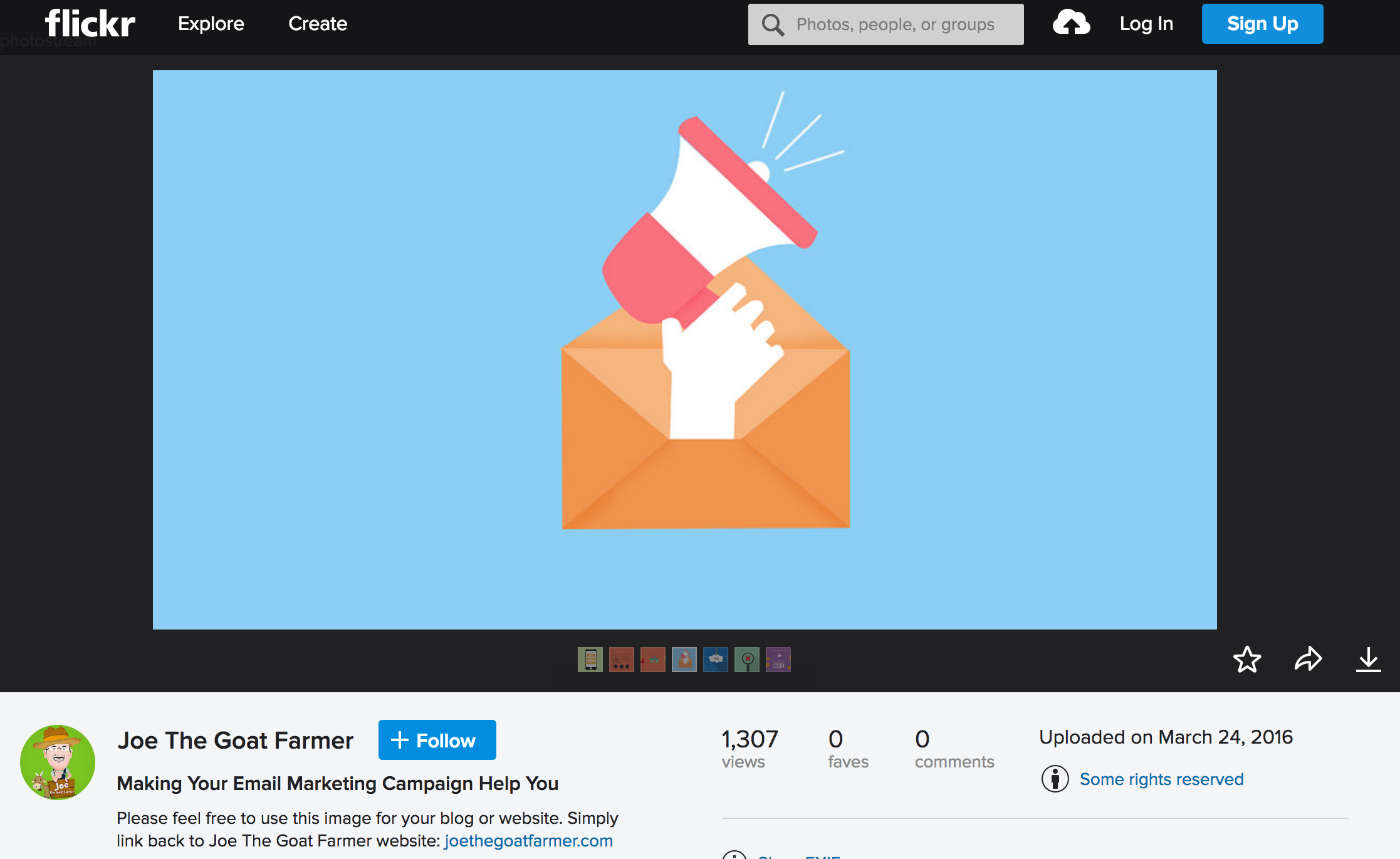 Screenshot of a marketing image uploaded to Flickr
