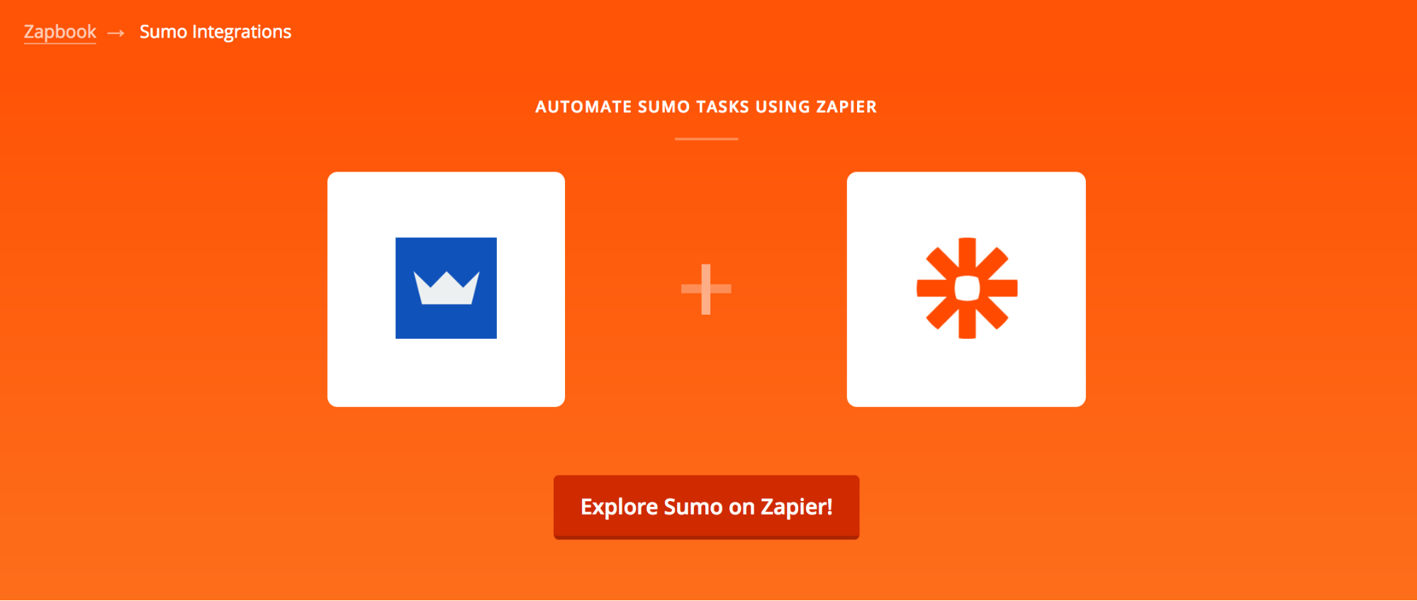 Screenshot showing Sumo + Zapier integration image