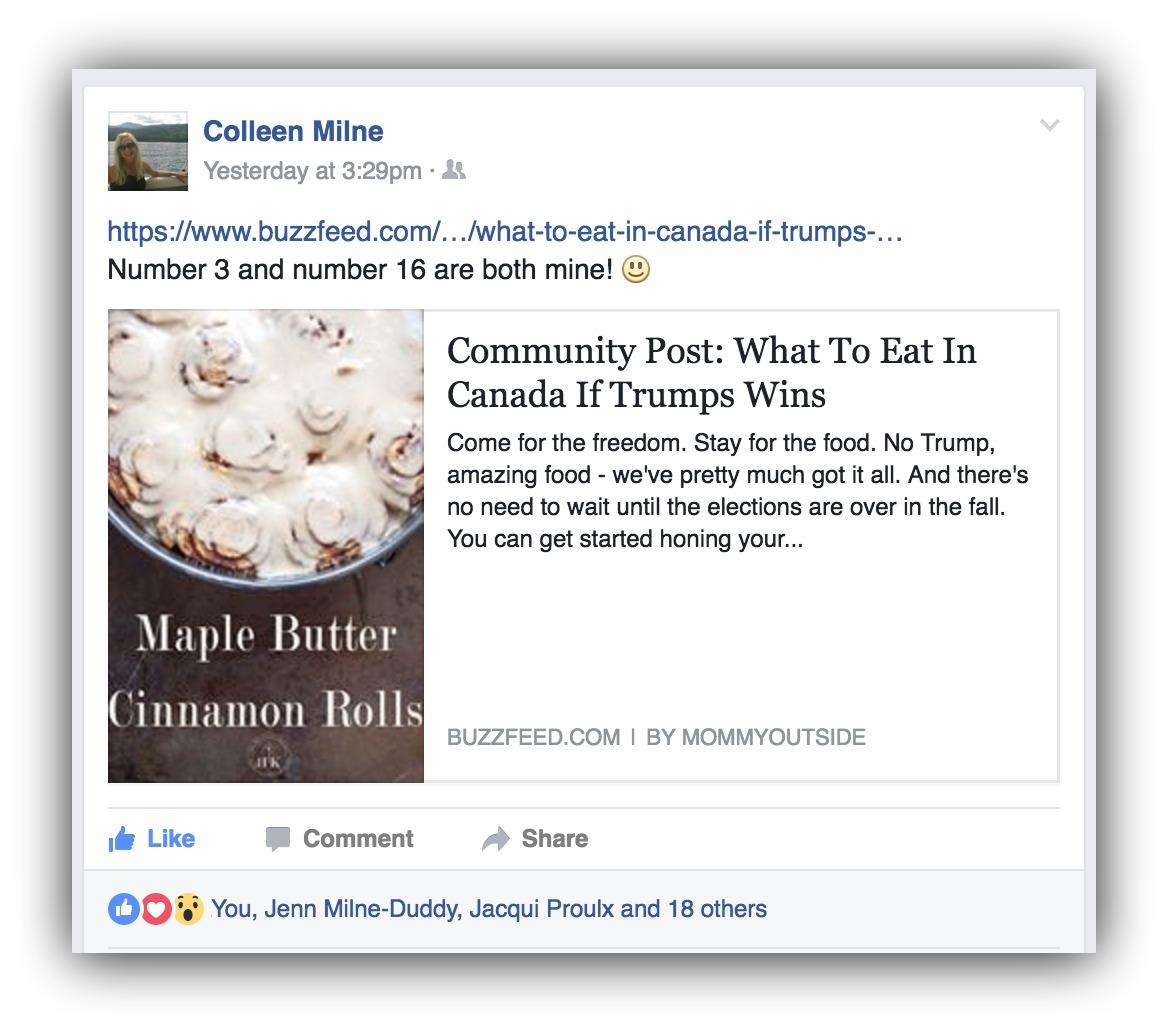 social sharing post
