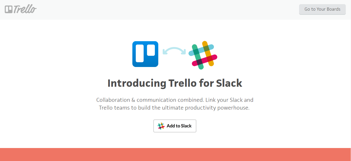 "Screenshot showing the ""add"" page for the Trello plugin for Slack"