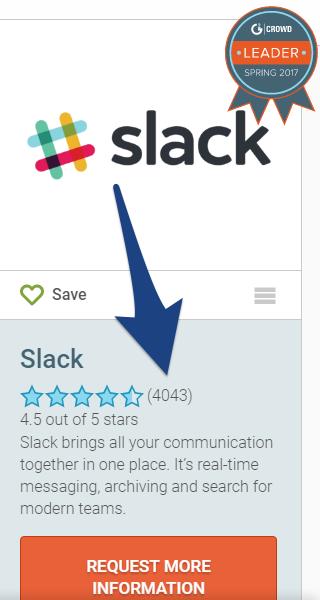 Screenshot showing reviews for Slack