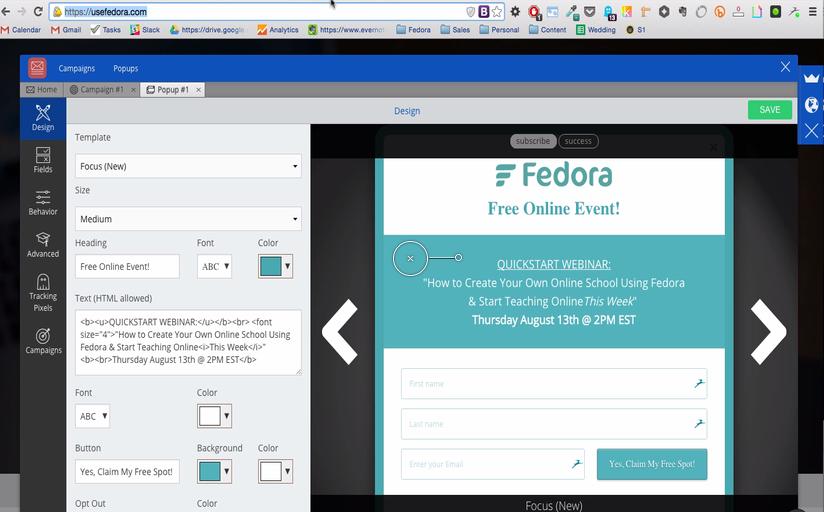 Designing Fedora Welcome Mat