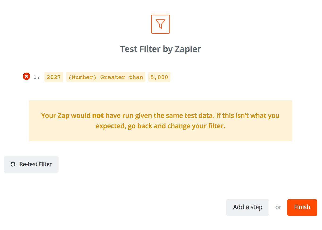 Screenshot showing a zap by zapier