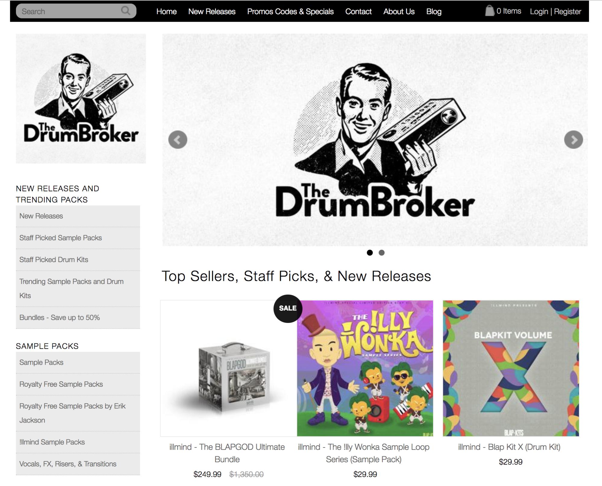 Screenshot showing DrumBroker
