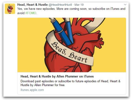head heart and hustle tweet