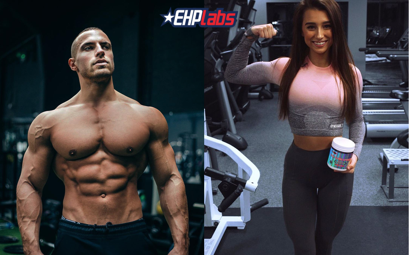 Screenshot showing pictures of two fitness people