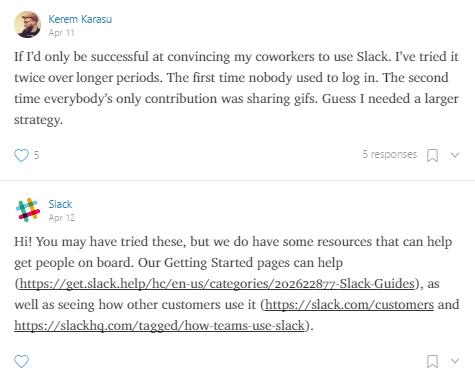 Screenshot showing Slack