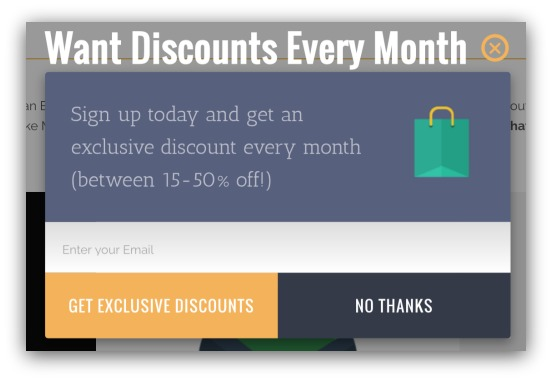 Discounts Every Month List Builder