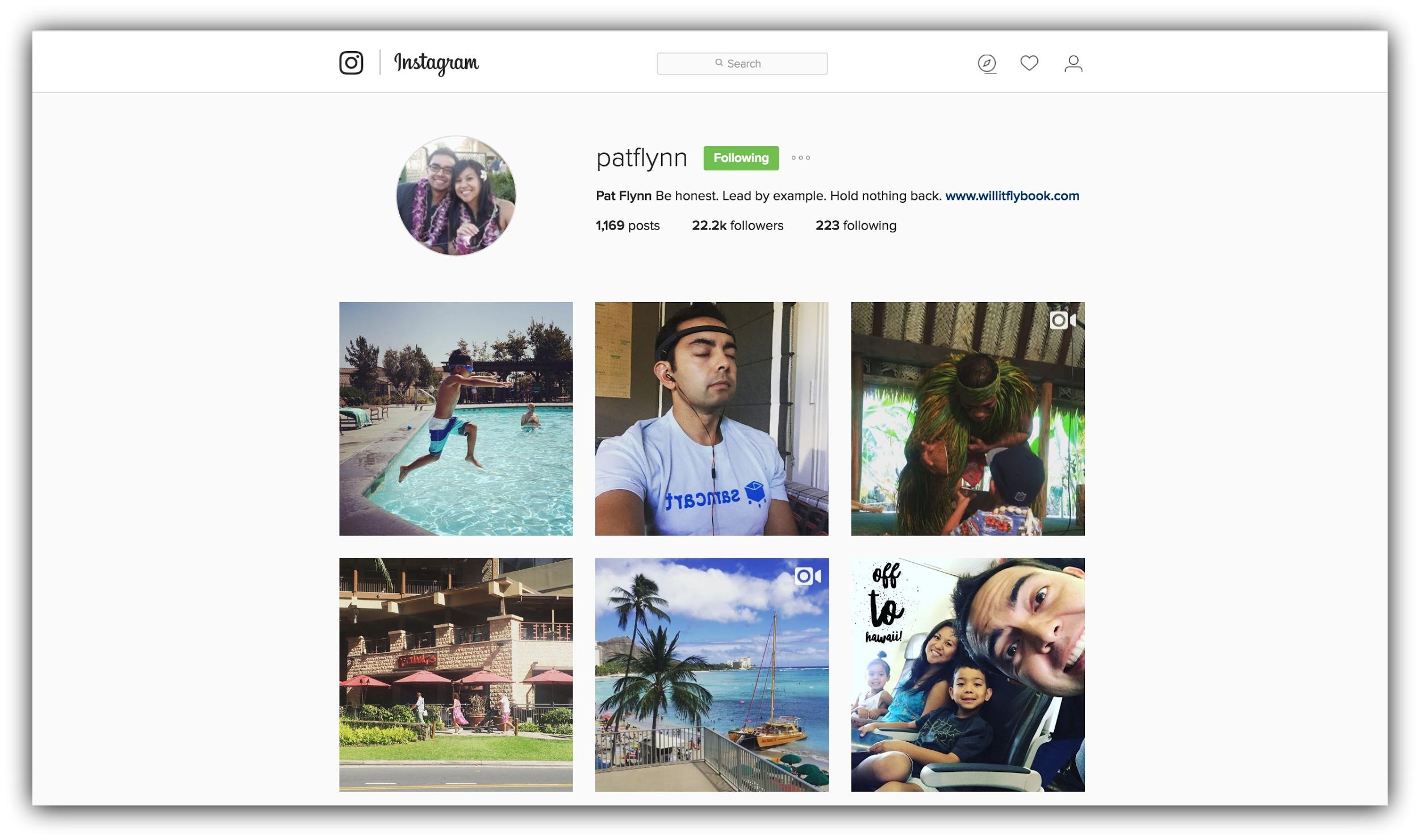 Captura de pantalla que muestra un perfil de instagram.