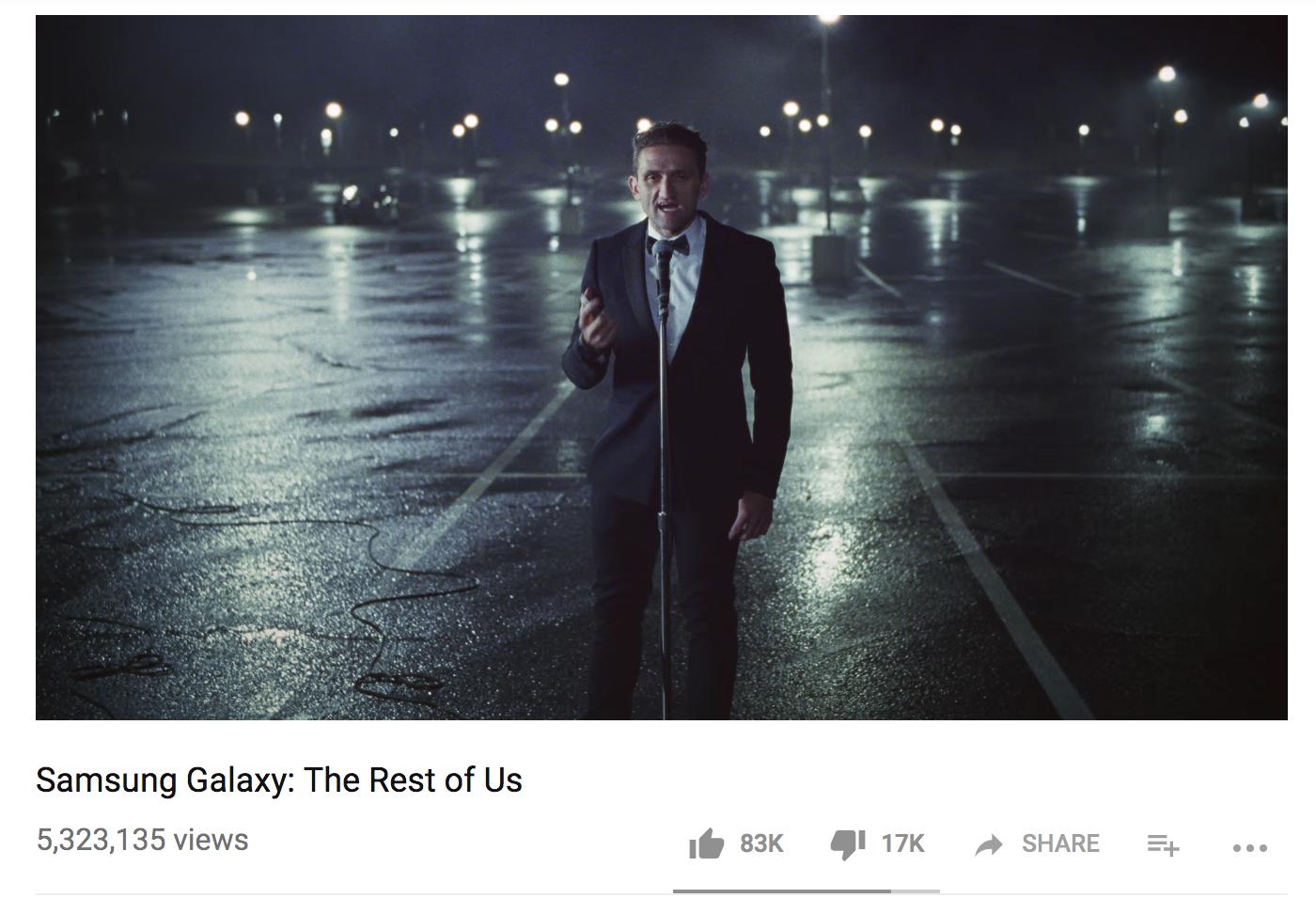 Screenshot showing a youtube video