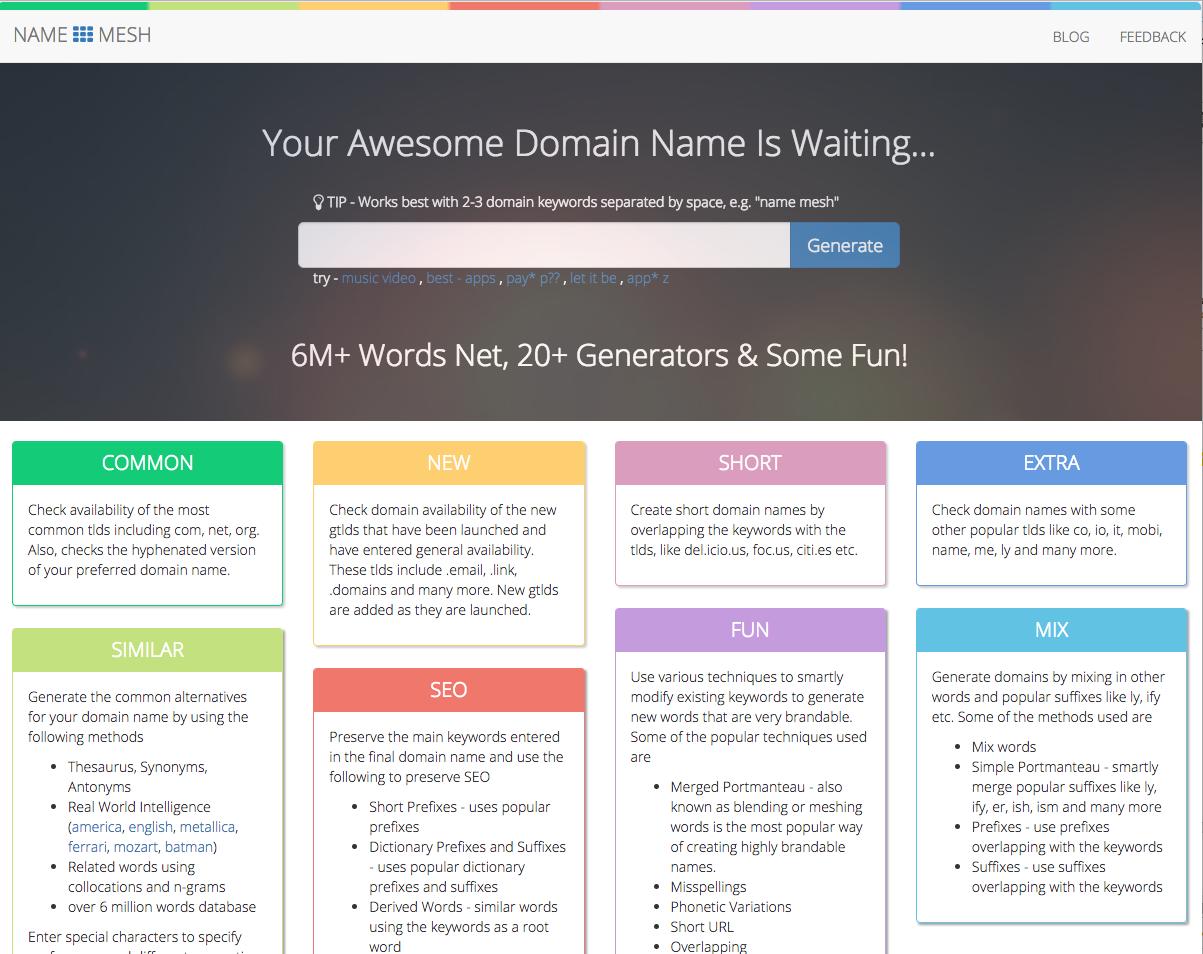name mesh homepage