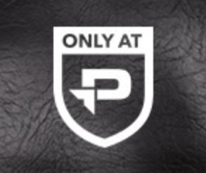 "Screenshot showing an ""only at P"" logo"
