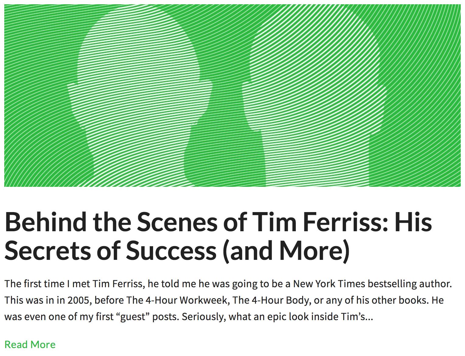 Screenshot showing an article