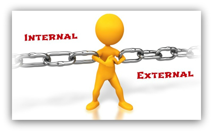 internal vs external links