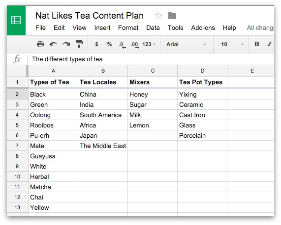 nat likes tea content categories