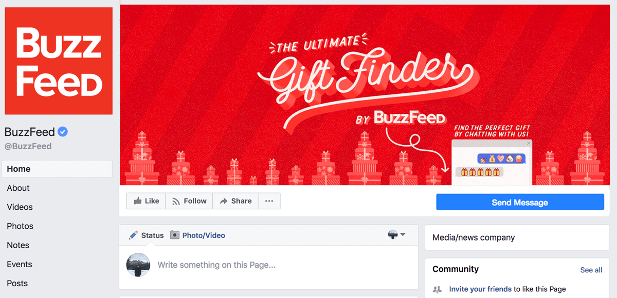 Screenshot showing Buzzfeed