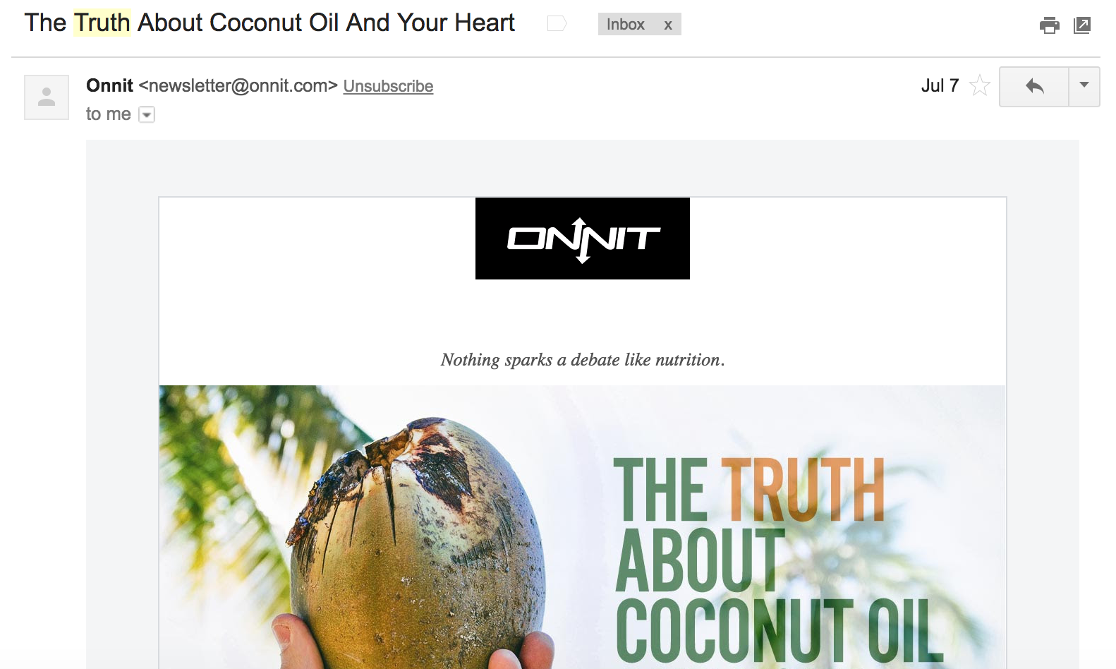 ONNIT truth email subject example