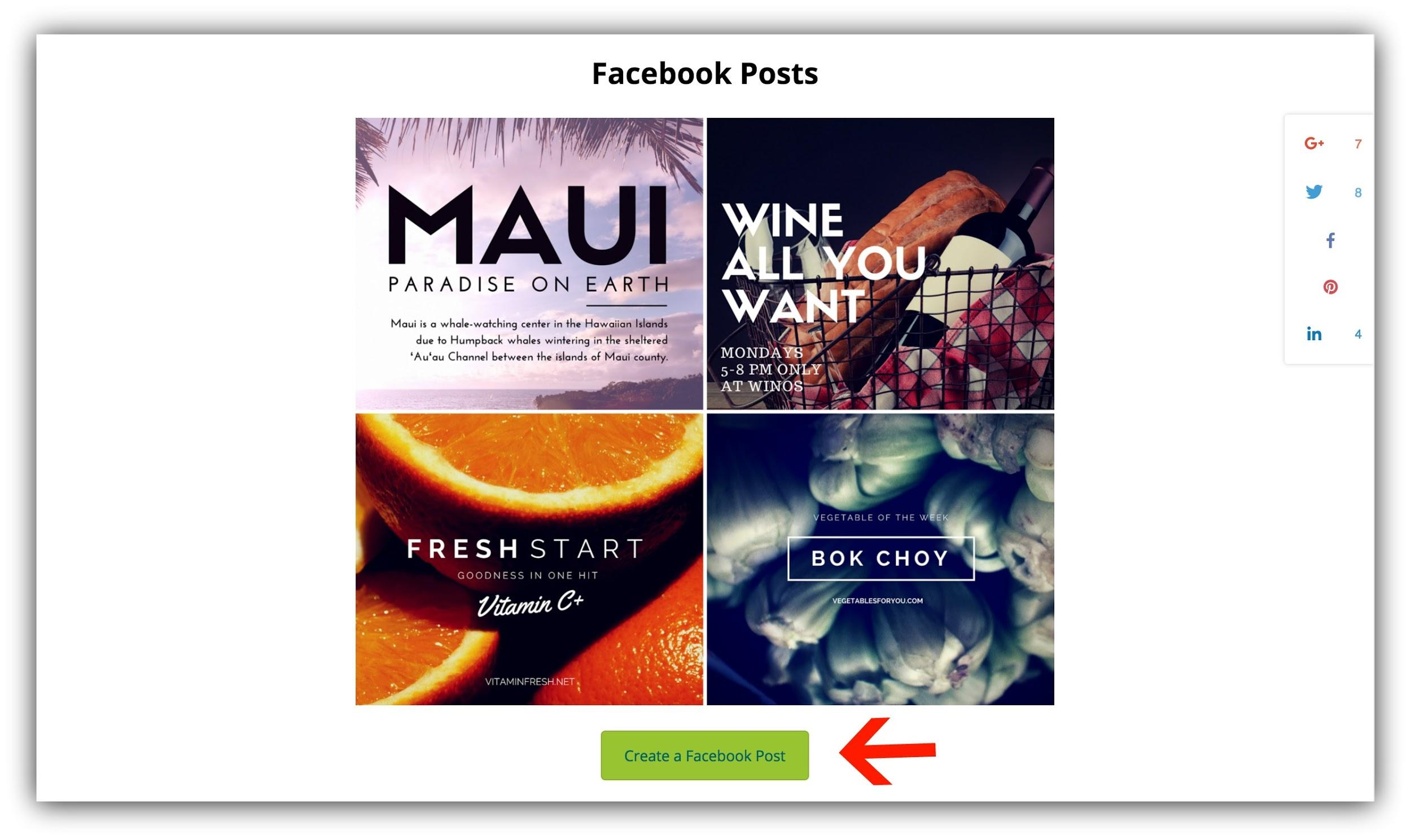 tool to create a facebook post