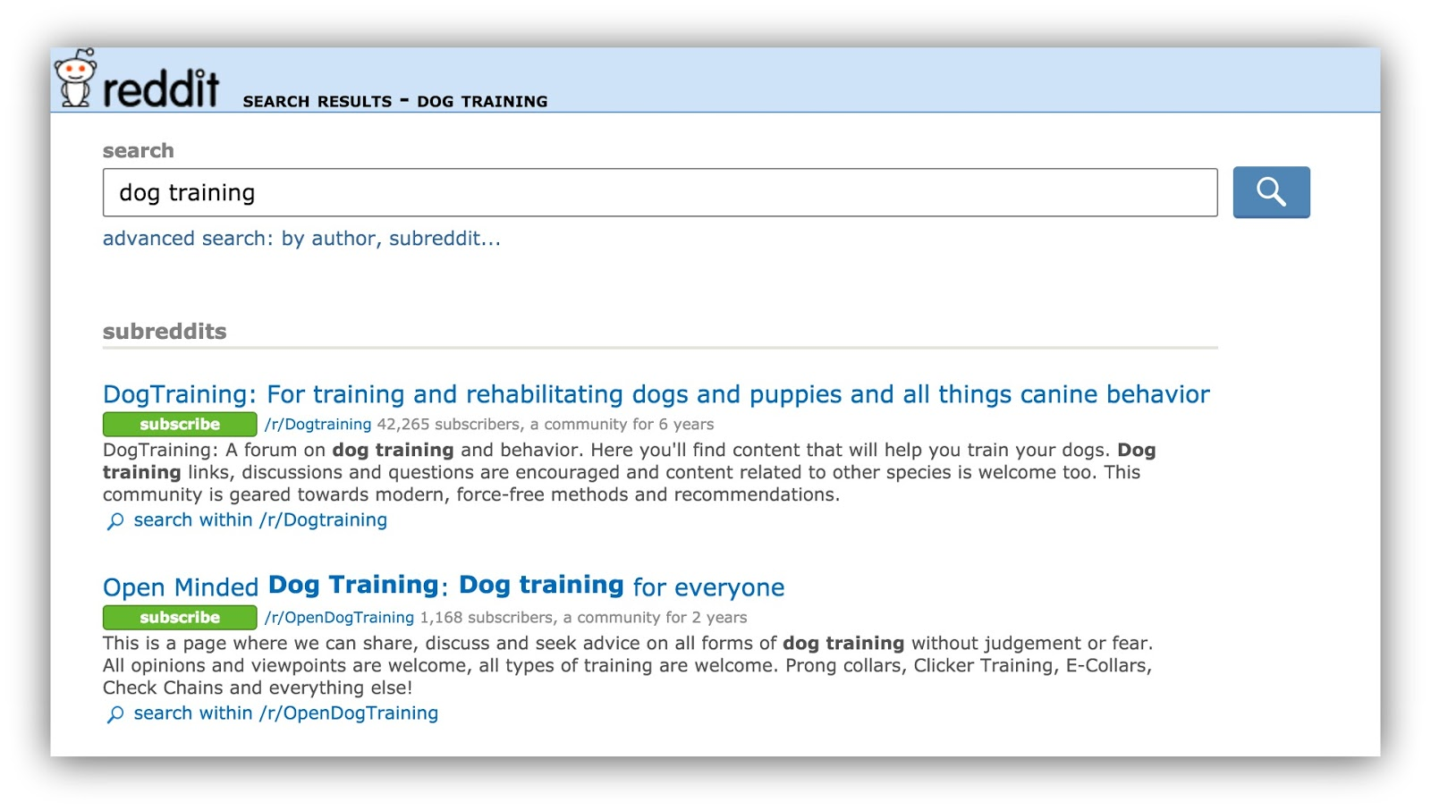 reddit dog training