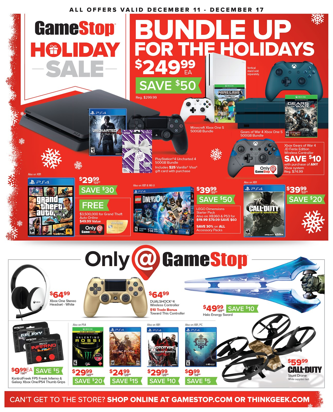 Screenshot showing a GameStop promotional banner