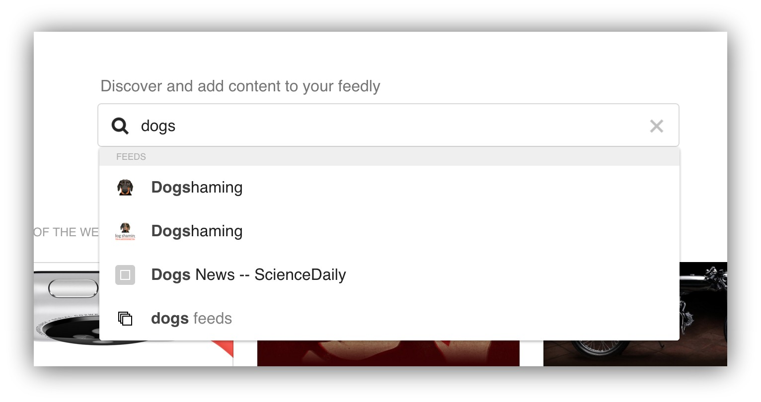 feedly keyword suggestions