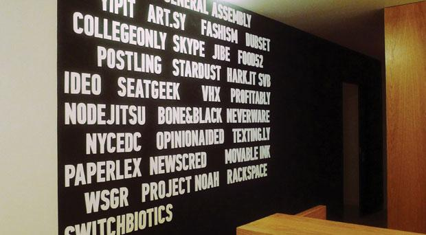 Words on a wall General assembly
