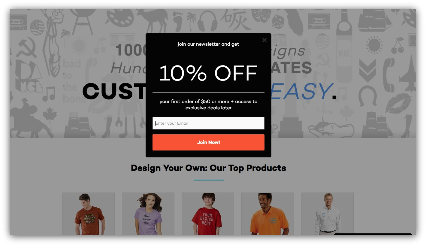 Pop ups arent dead what we learned analyzing 2 billion pop up popup example for discounts fandeluxe Image collections