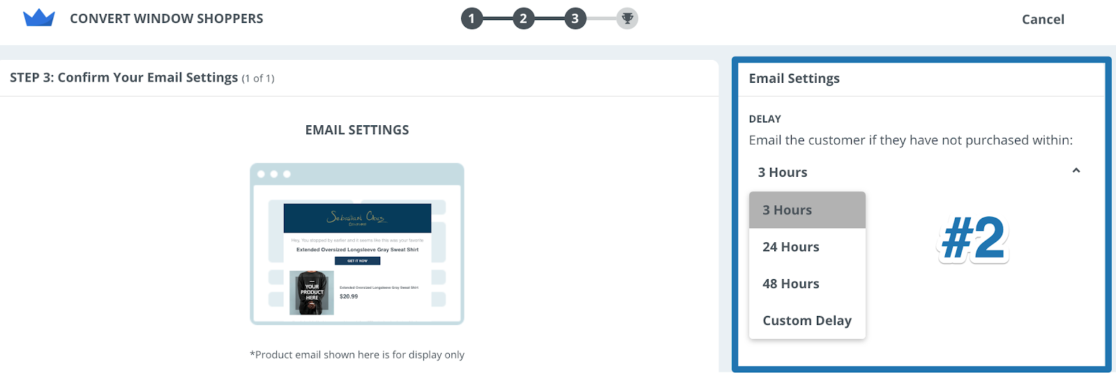 Screenshot showing email settings page on Sumo