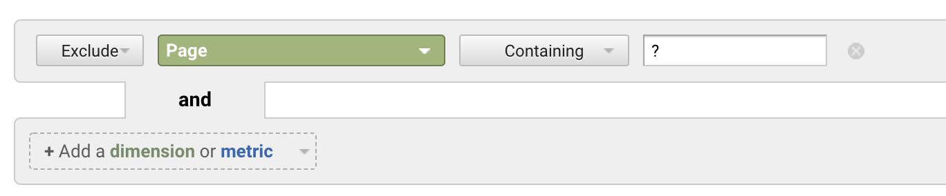 Screenshot showing a settings on the Google Analytics dashboard