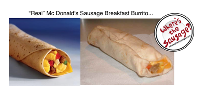 Screenshot showing two burritos