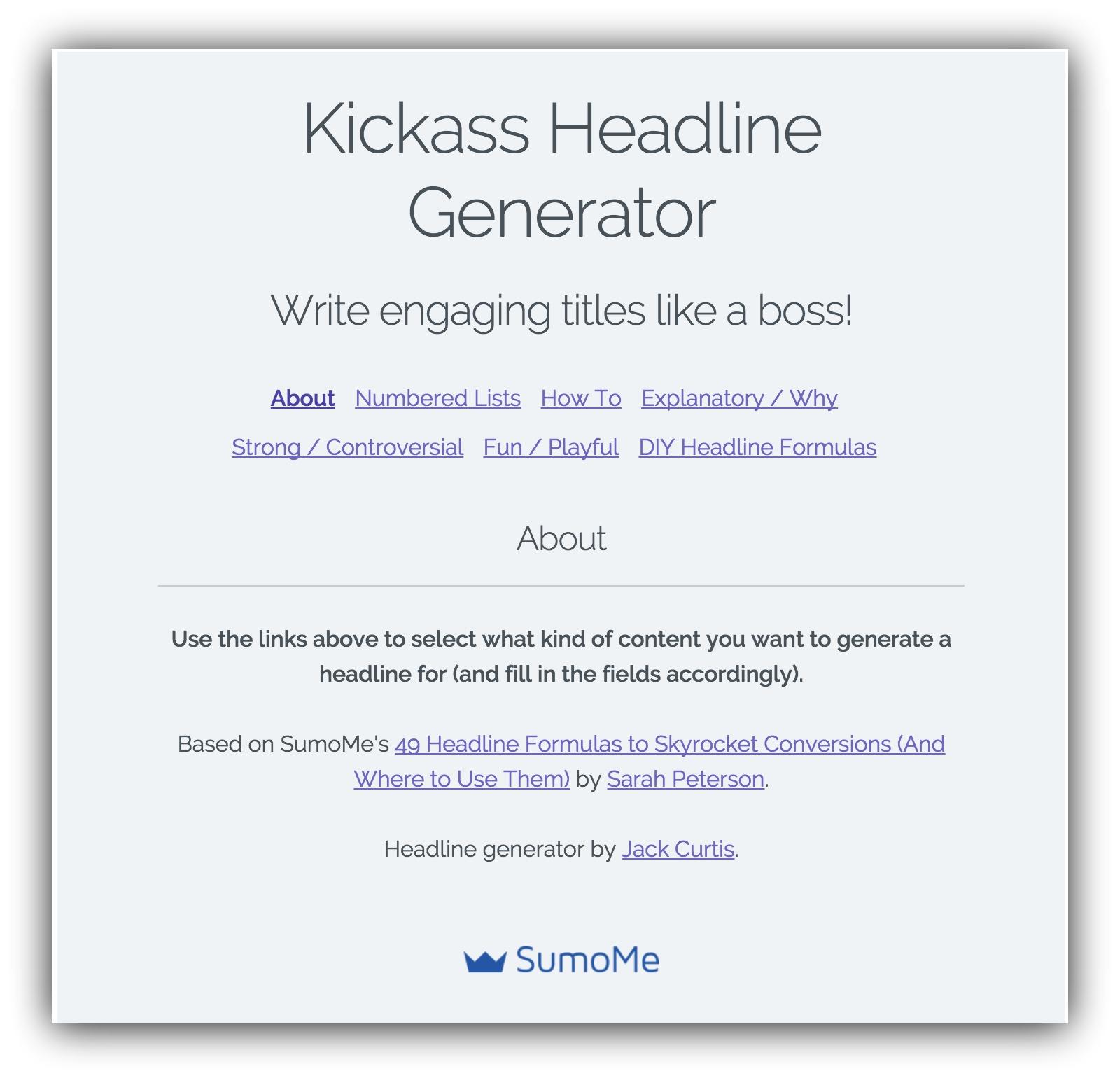sumome kickass headline generator