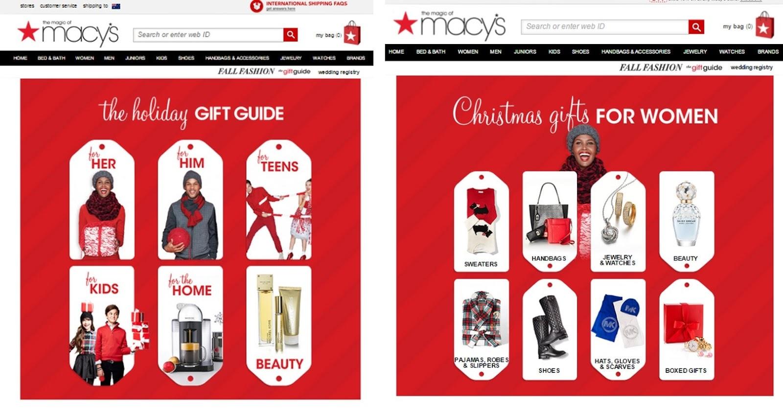 Screenshot showing Macy