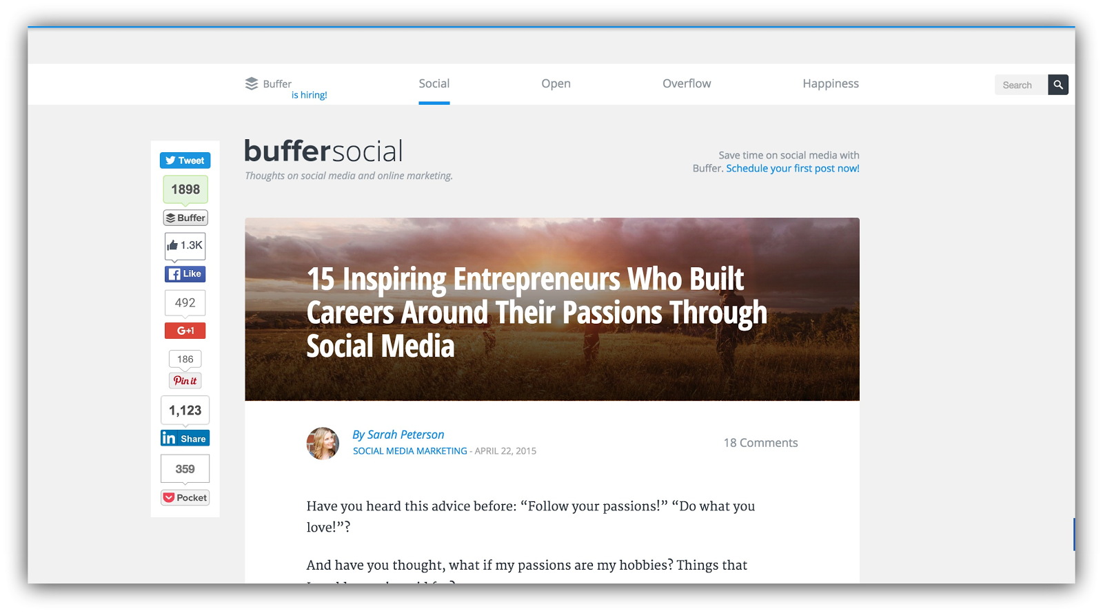 buffer social passions
