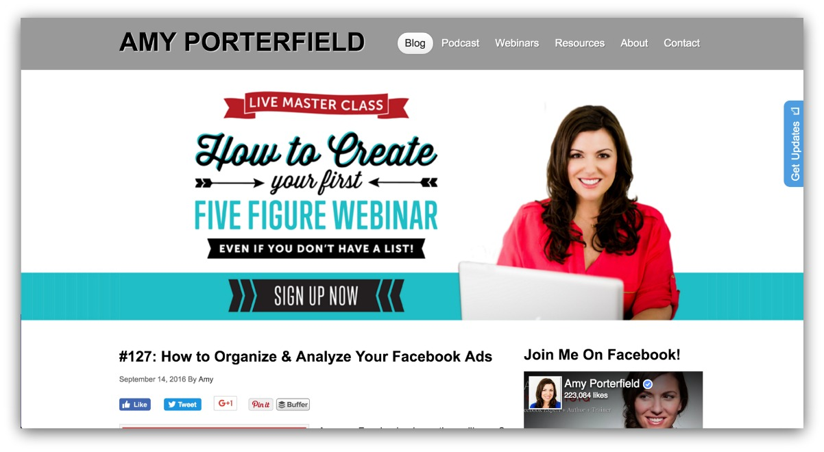 amy porterfield how to create your first five figure webinar