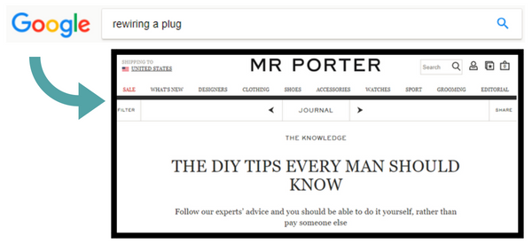 "Screenshot showing the top result for ""rewiring a plug"""