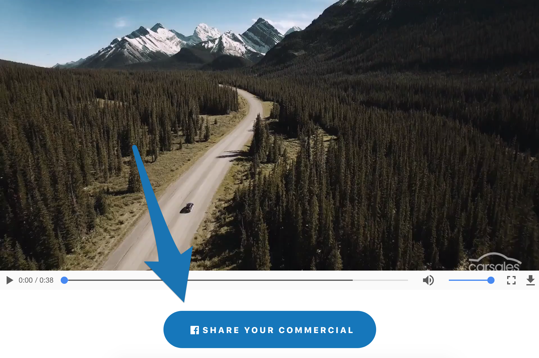 Screenshot showing a video generated by AutoAds