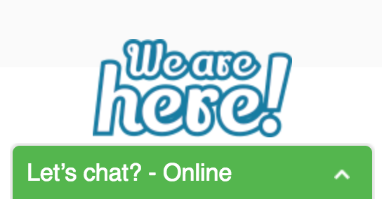 Screenshot showing a live chat popup