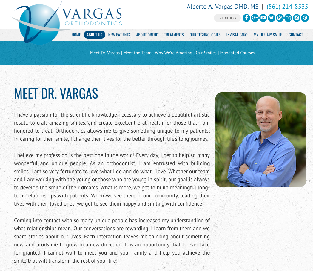 vargas orthodontics about us page