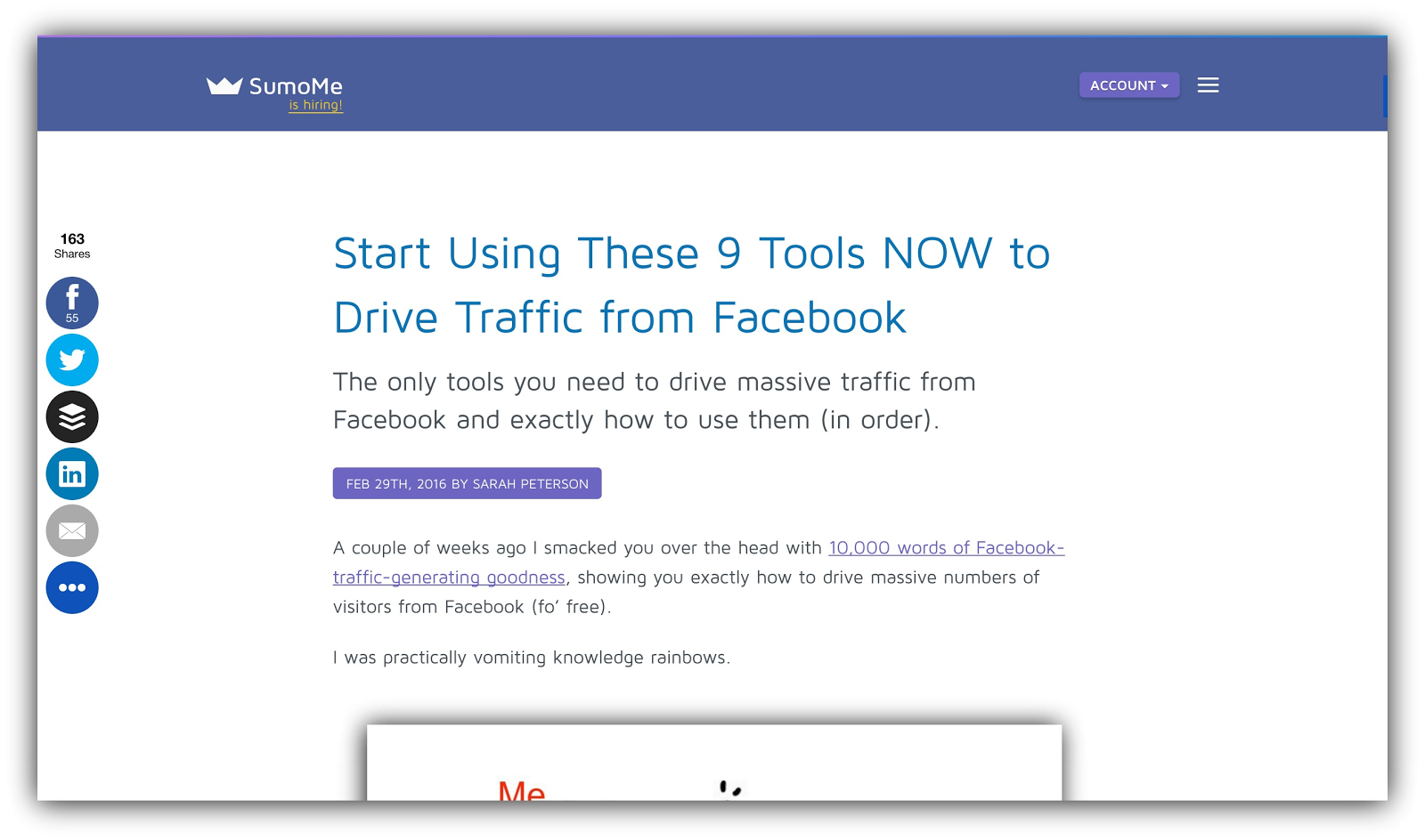 9 tools to drive traffic from facebook sumome