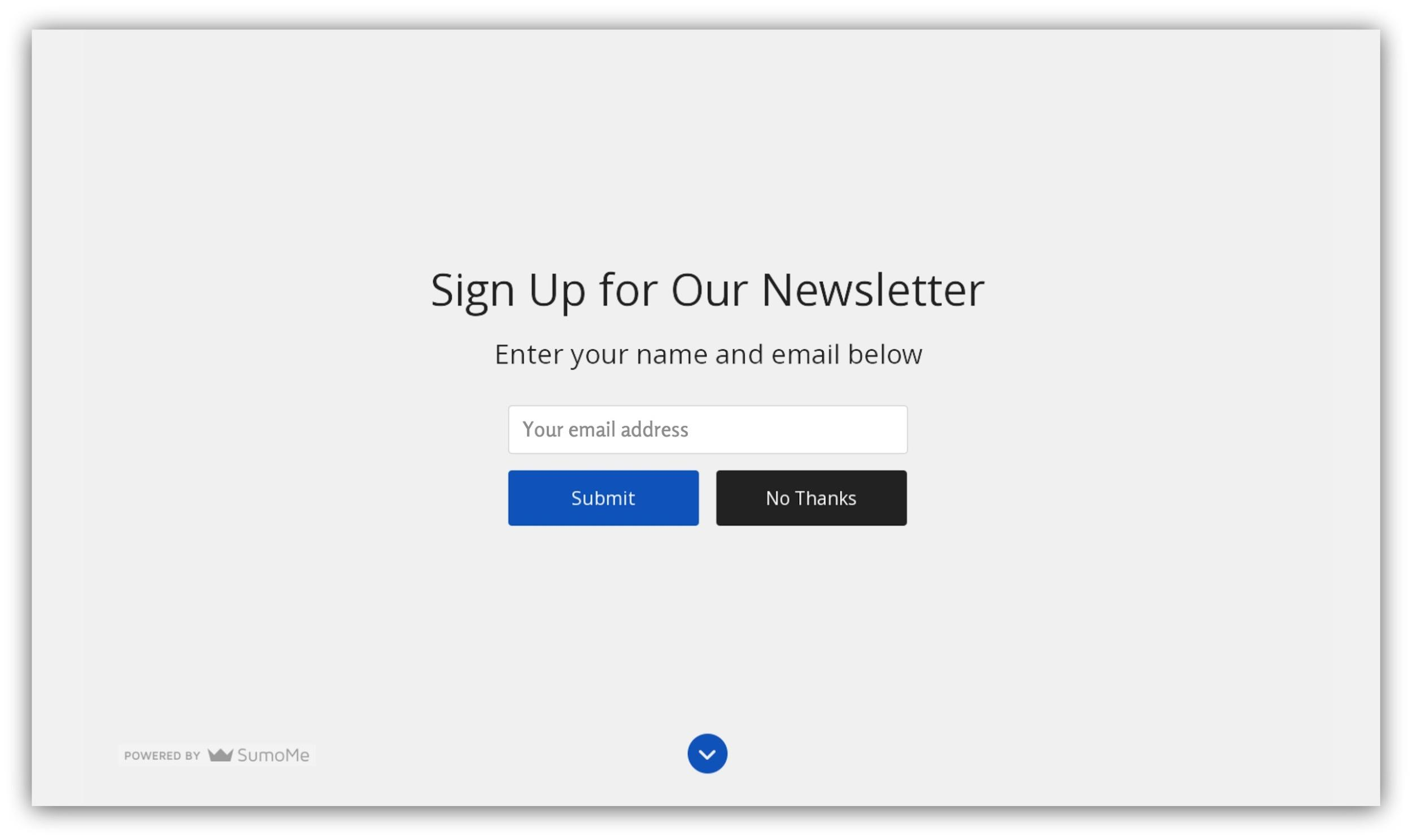 2017 Email Signup Benchmarks: Hereu0027s How Many Visitors Should Be  Subscribing   Sumo.  Email Signup Template
