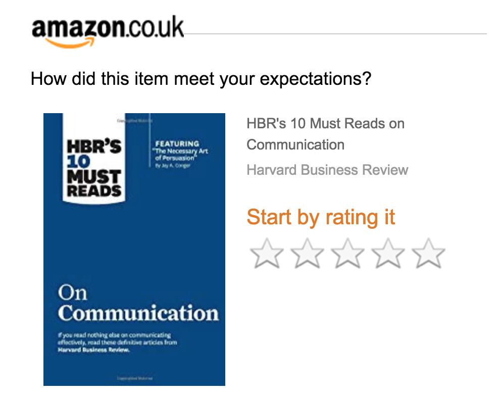 Screenshot showing Amazon review section