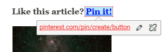 "Screenshot showing a ""pin it"" button"