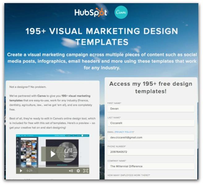 hubspot 195 visual marketing design templates