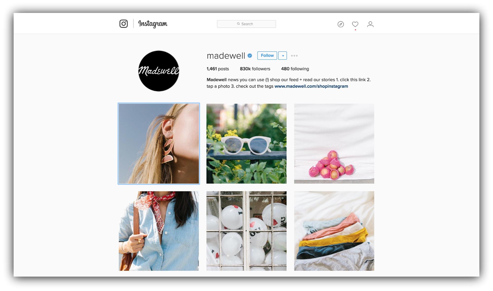 madewell instagram