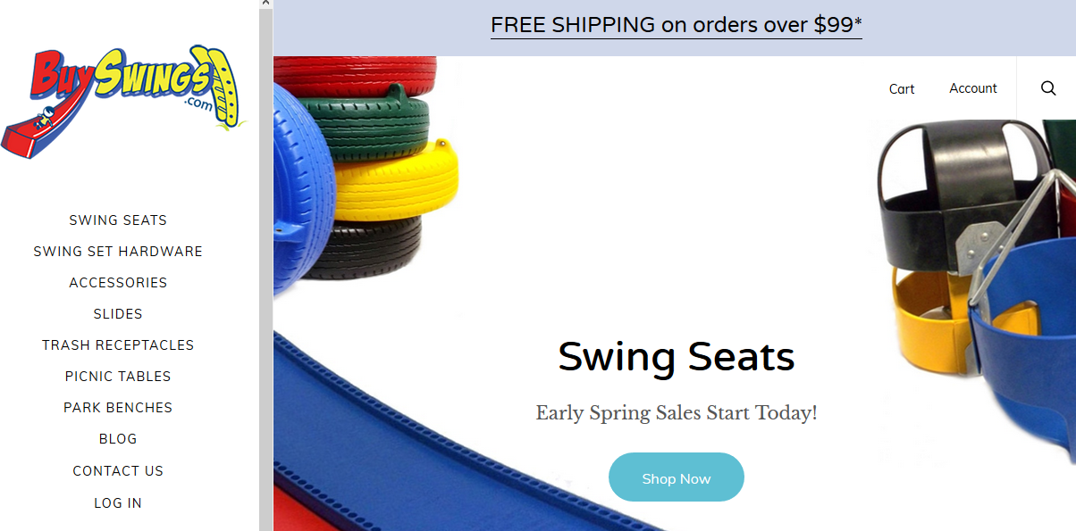 Screenshot showing BuySwings