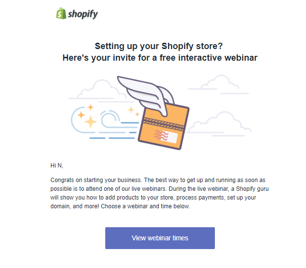 Screenshot showing an invitation to a webinar
