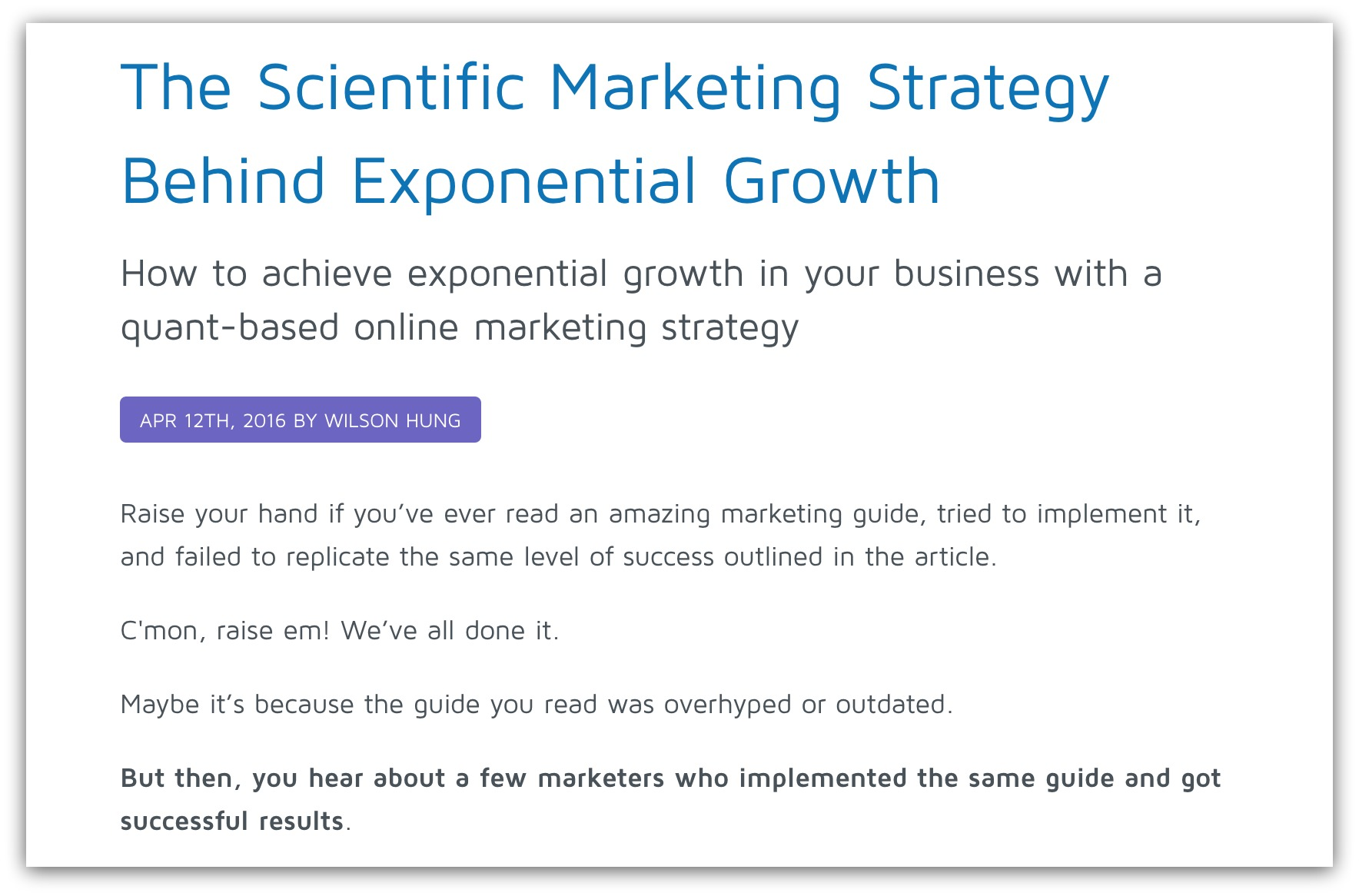 growth marketing strategy