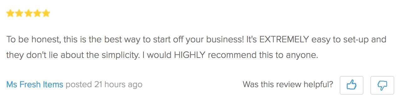 Screenshot showing a review for a plugin