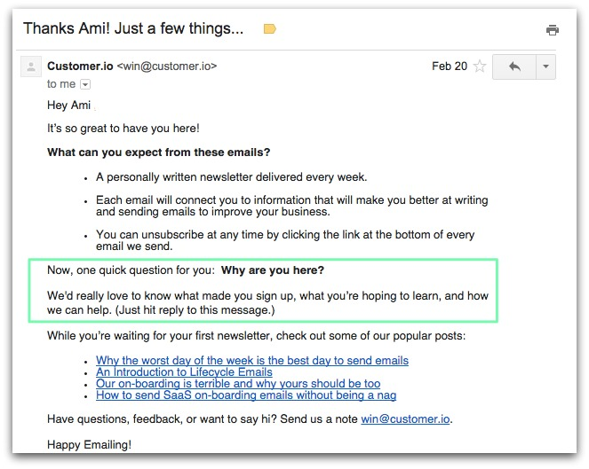 automated email template example
